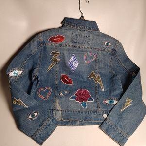 Bagatelle Embellished Denim Jacket, NWT